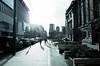 A break in the winter rain (Eric Flexyourhead) Tags: vancouver canada britishcolumbia bc downtown howestreet robsonsquare city urban cityscape cityscene street streetscape streetscene streetphotography sunshine sunburst lensflare bleachbypass ricohgr