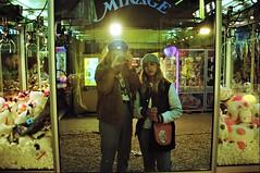 Mirage (cestlameremichel) Tags: canon ae1 kodak gold 200 film 35mm analogue analog street bordeaux glass experimental sisters portrait autoportrait funfair mirror foire aux plaisirs