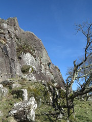 lucky with the weather (squeezemonkey) Tags: northwales snowdonia winter castlestafftrip tremadog tradclimbing climbing outdoors climbers doleriterock craigpantifan uppertier crag