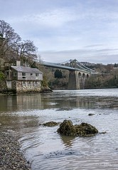 Menai Straight 1 (Photos taken with Sony mirrorless cameras) Tags: anglesey wales chalet bridge water