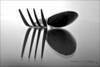 Fork n spoon (PAUL YORKE-DUNNE) Tags: fork spoon macro closeup bw mono
