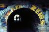 Tunnel (Strohi_) Tags: tunnel graffiti spraypaint schatten shadow analog praktica nova film ektar100 scan epson v550 kodak c41