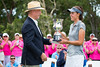 Meghan Maclaren of England receives the trophy from Andrew Fraser Member for Coffs Harbour, NSW (Ladies European Tour) Tags: maclarenmeghaneng coffsharbour newsouthwales australia aus