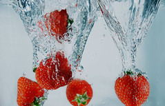 Strawberry season is coming (Wim van Bezouw) Tags: strawberry fruit water splash pluto sony ilce7m2 trigger highspeed plutotrigger