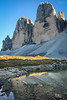 Italy | Tre Cime (Nicholas Olesen Photography) Tags: italy europe vertical tre cime dolomites rocks mountains peaks blue sky hiking outdoors travel nikon d7100 water reflection