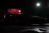 Red on black / Rouge sur noir (Jacques Lebleu) Tags: restaurant car night houston red sign