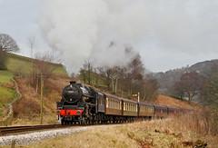 Visiting Black 5 On The Pullmans. (Neil Harvey 156) Tags: steam steamloco steamengine steamrailway railway 44871 oakworth keighleyworthvalleyrailway kwvr worthvalleyrailway pullmancoaches black5 stanier lms