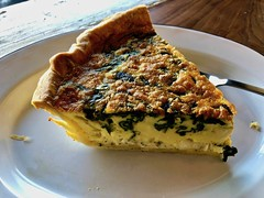 spinach quiche from Jane the Bakery (Fuzzy Traveler) Tags: quiche spinach chicken spinachquiche janethebakery bakery eggs