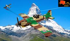Fiat G.55 air battle against a P-47 (1945) (Eínon) Tags: lego fiat g55 fighter interceptor warthunder war thunder world two italy italian air force