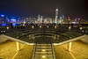 Kowloon stairway to Hong Kong (Tim van Woensel) Tags: kowloon hong kong skyline skyscrapers skyscraper stairway stairs avenue stars autonomous territory victoria harbour architecture night lights cityscape