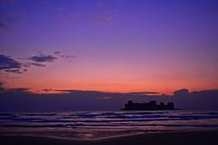 At Dawn (cengizskpl) Tags: turkey kızkalesi mersin sea blue sky clouds castle atdawn akdeniz sunrise landscape nikon7200 nikkor1855 grouptripod phototime
