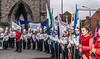 BACKSTAGE AND BEFORE THE PARADE [SAINT PATRICK DAY PARADE IN DUBLIN 2018]-137379 (infomatique) Tags: saintpatricksdayparade 17thmarch stpatricksfestival dublin williammurphy sonya7r111 sony28135mmlens infomatique fotonique marchingband verycoldday snow beforetheparade behindthescenes backstage