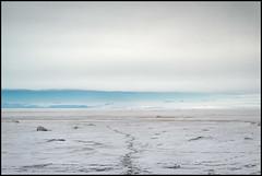(Jonas Thomén) Tags: sea ice clouds horizon winter snow hav is moln horisont vinter snö tracks spår