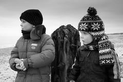 Boys in black and white (2) (D.R.M.S.) Tags: caister beach joshua samuel sea
