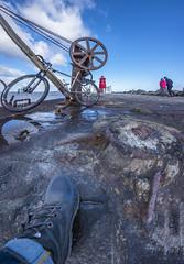 DSC_8619-Poolbeg_LowWideWinch_6blend14mm (RobNDub) Tags: ultrawideangle wideangle graffiti dublin pool beg lighthouse sea rock sunset mountain bike poolbeg