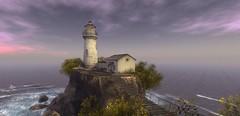 calm seas (Sabine Maruti) Tags: isleofmay ocean scenic sea lighthouse virtual atmospheric water sl secondlife