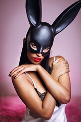 🐰 (socreative) Tags: sexy easter mask bunny hot erotic beauty lingerie boudoir beautiful model girl skin lips red pink socreative sensual