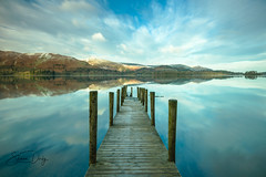 Ashness Jetty (Shaun Derby Photography) Tags: ashness jetty cumbria lake district morning calm reflections nikon water sky tranquility tranquil platform keswick derwent longexposure lakedistrict derwentwater