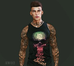 Never Retreat (AW02) Tags: sl secondlife photography avatar style tattoo
