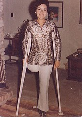 0004-21 - 1960s Amputee (jackcast2015) Tags: handicapped disabledwoman crippledwoman crutches amputee sakamputee sakamputation sak
