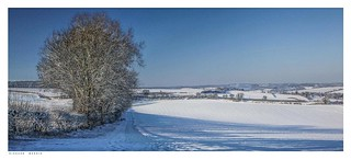 More snow covered Lullingstone with Bower Lane in front, Eynsford, Kent.