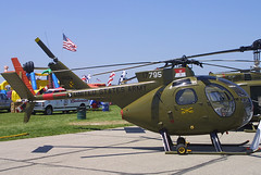 Hughes OH-6A Cayuse (369A), N992CH, 38-0346, at Dayton - James M. Cox Dayton International (DAY / KDAY), Ohio, USA - July 2003 (Tom Turner - NYC) Tags: ramp staticdisplay warbird army usarmy usaarmy unitedstatesarmy green helicopter rotor chopper helo whirlybird vintage classic dayton airshow daytonairshow ohio jamesmcox international airport aviation aircraft tomturner usa unitedstates transport transportation hughes military oh6a hughesoh6a cayuse 369a n992ch 380346 loach lightobservationhelicopter vietnam vietnamera vietnamwar