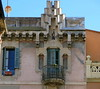 Must See TV:  Gràcia, Barcelona (Spencer Means) Tags: balcony balcón balkon window shutters facade façade architecture building gràcia barcelona catalalunya catalonia dish satellite tv television cornice ornate roof roofline