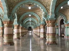 India (Mysore) Public Darbar hall  of Mysuru Palace1 (ustung) Tags: india mysore mysuru hal darbar public palace ceiling decoration architecture arch column