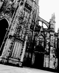 The Horror of Dracula #2 (Josu Sein) Tags: donostia sansebastián gipuzkoa guipúzcoa euskadi euskalherria basquecountry monochrome monocromo highcontrast altocontraste cathedral catedral dark oscuro mystery misterio horror terror surrealism surrealismo expressionism expresionismo urban urbano city ciudad