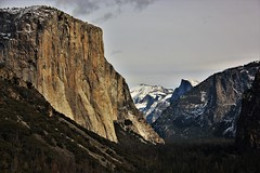 El Capitan, Yosemite NP (rickyb2013) Tags: canont3i snow halfdome mountain trees tunnelview ynp yosemite elcapitan