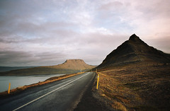 icelandic roads (manyfires) Tags: iceland europe landscape film 35mm analog nikonf100 road asphalt drive driving travel vacation fjord westfjords westernfjords