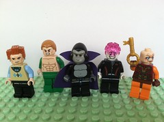 The Ugly, the Ugly and the Ugly (Gallisuchus) Tags: custom lego legion doom members supervillain minifigures professor ivo amazo gorilla grodd psimon key