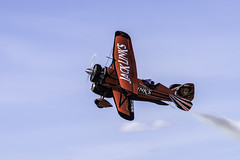 Screamin' Sasquatch Photo Pass (dcnelson1898) Tags: lukeafbairshow arizona phoenix goodyear lukeairforcebase jetwaco biplane radialengine jet jacklinks aviation airplane red