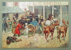Filling the Boot (pefkosmad) Tags: jigsaw puzzle hobby leisure pastime secondhand used complete victory goldbox gjhaytercoltd painting art wood wooden plywood vintage