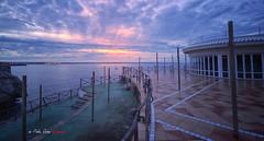 (114/18) Amanece en Ciudadela (Pablo Arias) Tags: pabloarias photoshop photomatix capturenxd españa cielo nubes arquitectura amanecer mar agua mediterráneo hotel almirantefarragut cala´nforcat ciudadela menorca