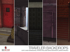 NEW! Traveler Backdrops (Bhad Craven 'Bad Unicorn') Tags: • bhad craven second 2l life lindens profile picture photography bad unicorn badunicorn clothing buc bu secondlife graphics gfx graphic design photos pics photo sl urban mesh exclusive store blog shadows high quality production portrait image hd definition original meshes meshed 3d game characters art gaming concept concepts new top work progress wip hypebeast hype beast bae back drops backdrops cool city pink basketball pillars graffiti