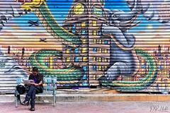 Welcome to BKK (D. R. Hill Photography) Tags: graffiti art streetart street streetphotography candid bangkok thailand asia southeastasia urban city nikon nikond750 d750 nikon50mmf14g 50mm primelens fixedfocallength