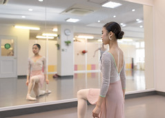 Beautiful ballet dancer practicing in bright ballet studio (Apricot Cafe) Tags: img76559 asia japan japaneseethnicity reflection sigma35mmf14dghsmart tokyojapan ballet balletdancer balletstudio beautifulwomen candid carefree charming cheerful colorimage confidence dancer dancing elegance freedom happiness indoors lifestyles mirror motion oneperson oneyoungwomanonly onlywomen people performance photography posing posture practice realpeople rearview rehearsal serenepeople success threequarterlength