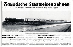 "Egypt Railways - Egyptian State Railways ""de Glehn"" type 4-4-2 steam locomotive and Deluxe train (1910) (HISTORICAL RAILWAY IMAGES) Tags: train esr egypt railways locomotive steam luxor 1910 deglehn 442 cail ciwlt wagonslits"