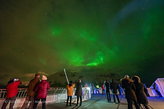 Aurora Through Clouds from m/s Nordnorge (Amazing Sky Photography) Tags: nordnorge norway troms㸠northernlights auroraborealis clouds deck ship hurtigruten observers cruise alberta canada tromsø