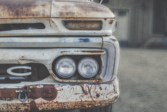 Seen a Thing or Two, So She Has (Paul B0udreau) Tags: nikkor50mm18 photoshop canada ontario paulboudreauphotography niagara d5100 nikon nikond5100 raw layer oldtruck rust texture gmc