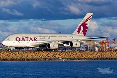 A7-APF QR A380 16R YSSY-5434 (A u s s i e P o m m) Tags: mascot newsouthwales australia au qatar qatarairways qr airbus a380 syd yssy sydneyairport