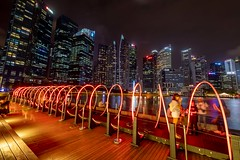iLight Marina Bay, Singapore (Mark Chan Photography) Tags: zeiss distagon t 2815 zf2 nikon uwa night lights d850 singapore longexposure neon spiral distagont2815 carlzeiss