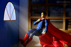 the burden of the whole world (photos4dreams) Tags: superman clarkkent smallville photos4dreams p4d photos4dreamz actionfigure actionfigur ken mattel christopherreeve ooak handpainted oneofakind dollartist design cape robe muscles kalel hero held dc comic
