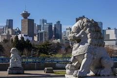 Pacific Gateway (Clayton Perry Photoworks) Tags: vancouver bc canada winter explorebc explorecanada dtes crabpark skyline lion statue