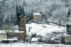 SeixEnvirons180320_9 (PierreG_09) Tags: ariège pyrénées pirineos couserans neige hiver village chapelle église clocher oust pouech saintbarthélémy noredamedupouech