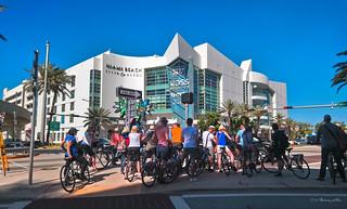Tourists in Miami Beach.
