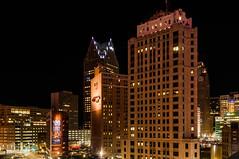 Downtown Detroit (Victor Dvorak) Tags: detroit michigan skyline buildings architecture city downtown longexposure nightphotography nikon d300s 20mmf28d