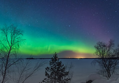 northern lights (katrinlillenthal) Tags: nature nopeople northernlights landscape night outdoor dramaticsky stars astronomy winter snow beautyinnature