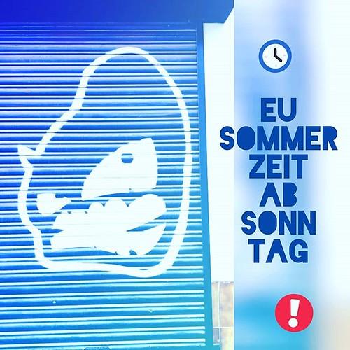 Denk dran: 1 Stunde vor zur Sommerzeit springen • Do not forget: skip 1 hour to Central European summer time #zeitreise #zeitumstellung #sommerzeit #europeansummertime